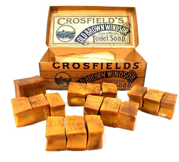 Antique Advertising - Crossfields Old Brown Windsor Soap Shop Display Box Sign